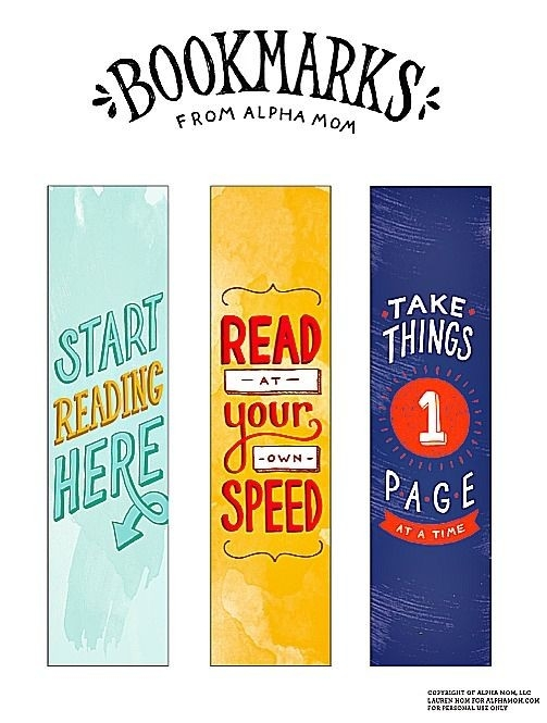 Printable Bookmarks Alpha Mom All Book - Tierra Este | #91083 within Bookmarks For Books To Print 26654