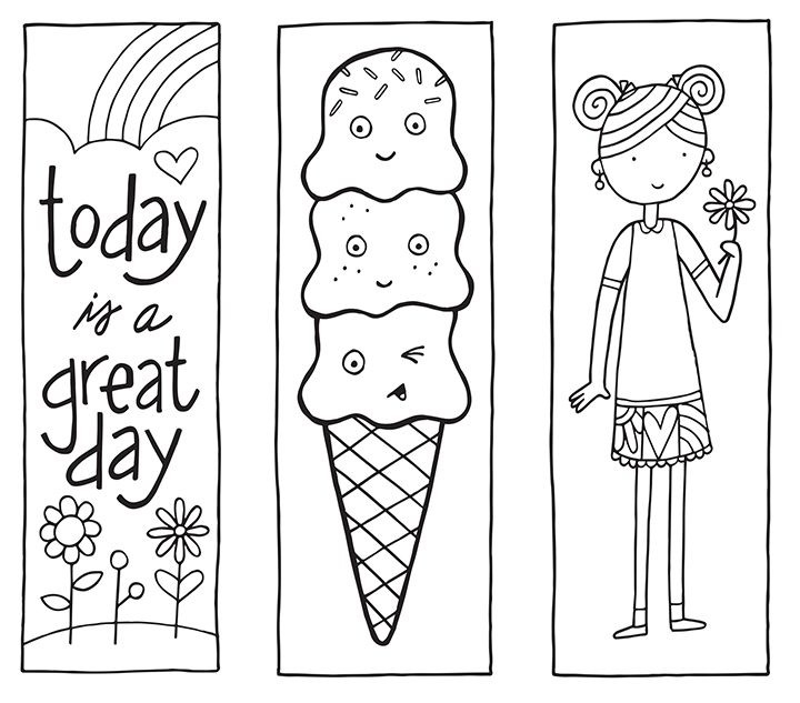 Printable Bookmarks Black And White | Yspages throughout Cool Bookmarks To Print Black And White 29582
