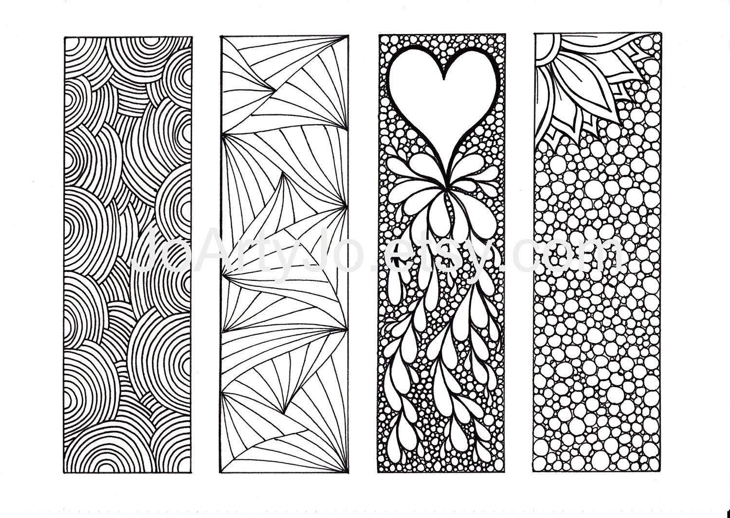 Printable Bookmarks To Color For Girls | Postrendy intended for Cute Bookmarks To Print Black And White 27250