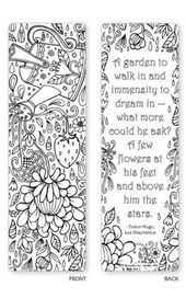 Printable: Coloring Zendoodle Bookmarks | Bookmarks, Flowers And Etsy with regard to Cute Bookmarks To Print Black And White 27250