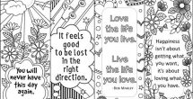 Bookmark Designs To Print Black And White Quotes