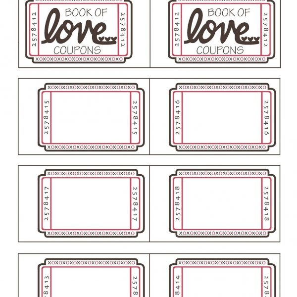 Printable Coupon Template For Boyfriend