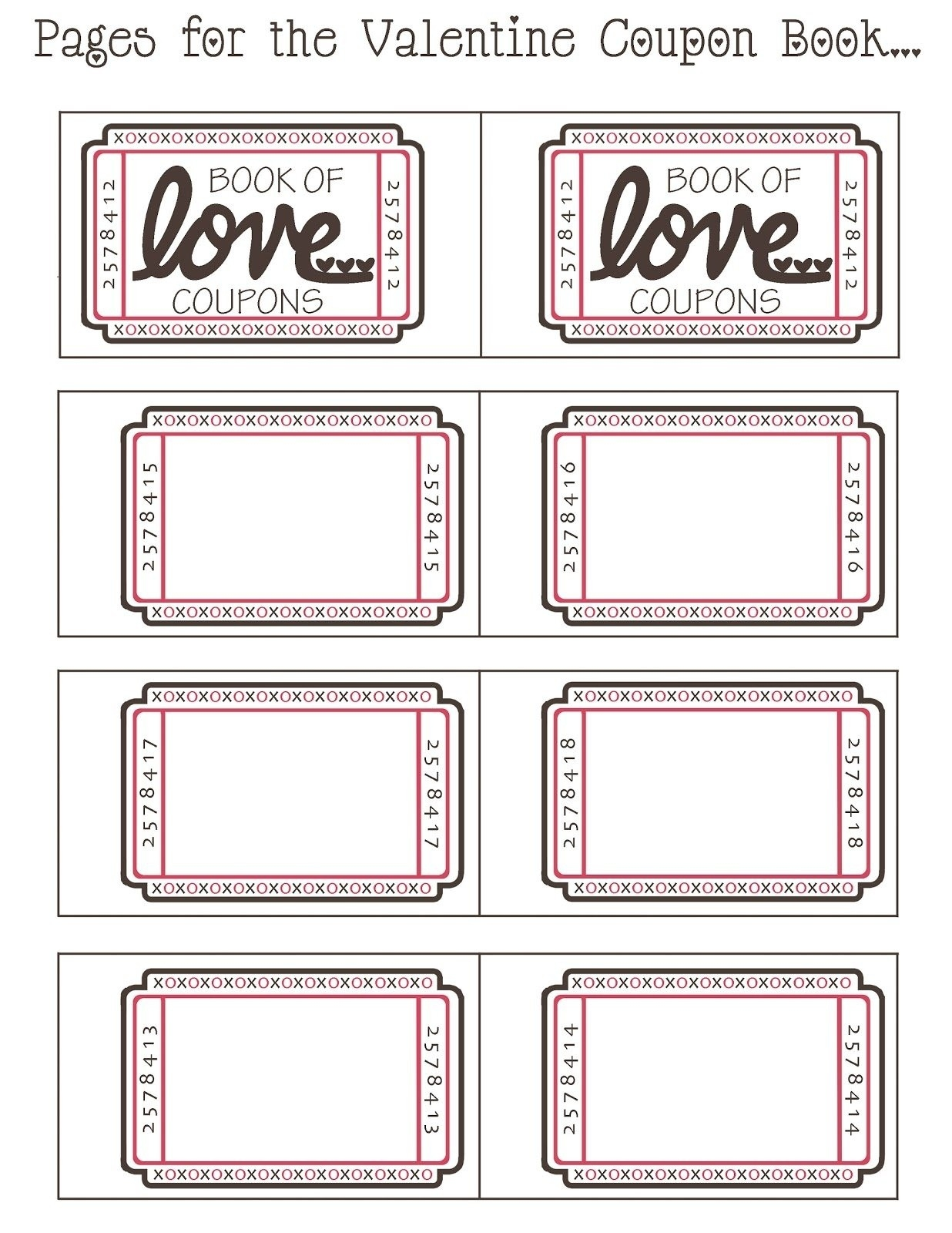 Printable Coupon Template For Boyfriend | Journalingsage with Empty Love Coupons For Him 28226