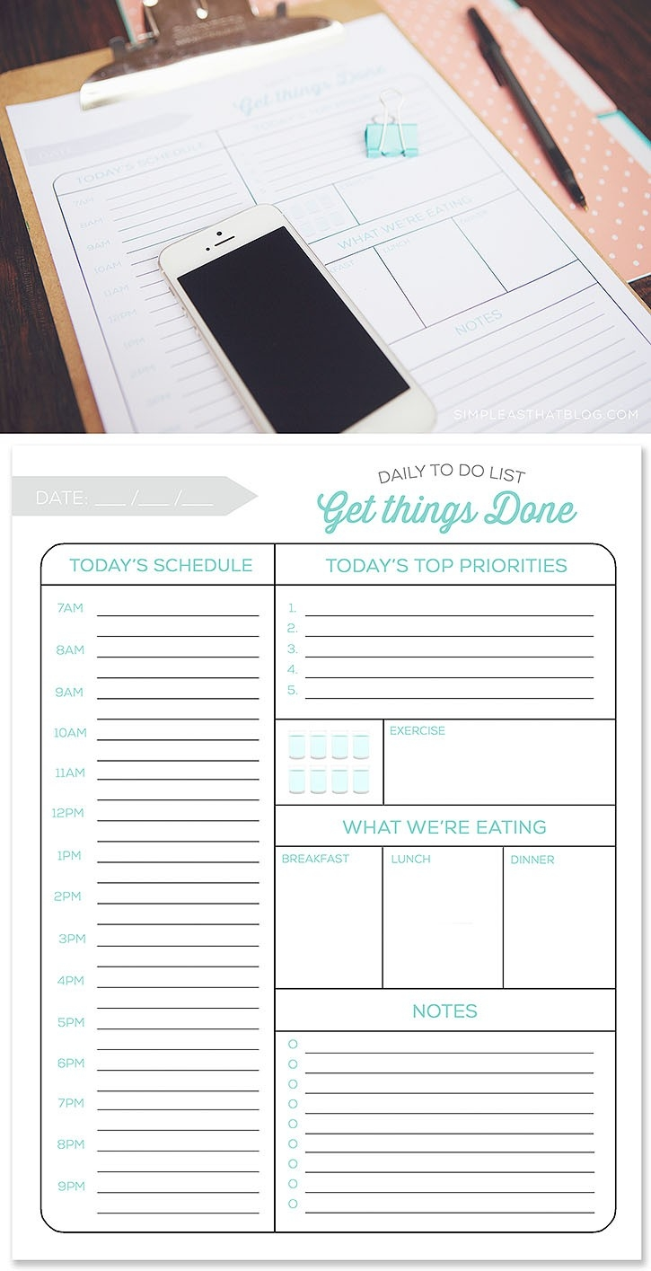 Printable Daily To Do List And Tips For A More Productive Day for Printable Daily To Do List With Times 25996