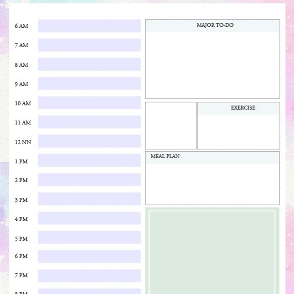 Printable Daily To Do List Template To Get Things Done! With in Printable Daily To Do List With Times 25996