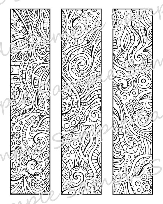 Printable Diy Bookmarks - Print And Color Yourself - | Coloring for Cute Bookmarks To Print Black And White 27250