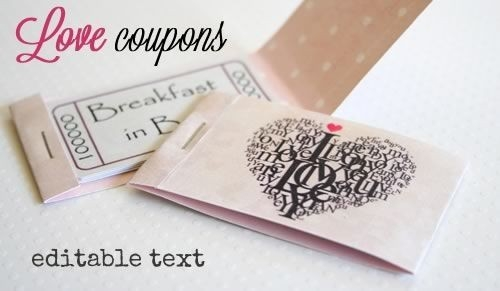 Printable Love Coupons With Fully Editable Text Messages And Two with regard to Love Coupons Cover 30278