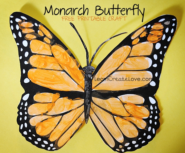 Printable Monarch Butterfly Craft for Monarch Butterfly Template 29350