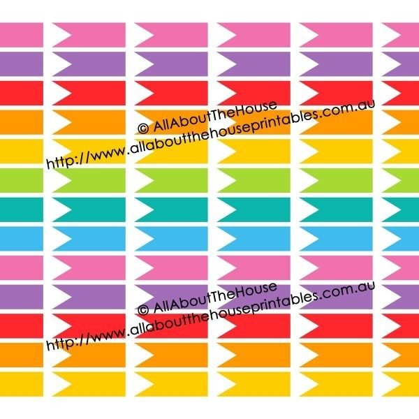 printable rainbow calendar stickers for erin condren planner or intended for calendar stickers for college students