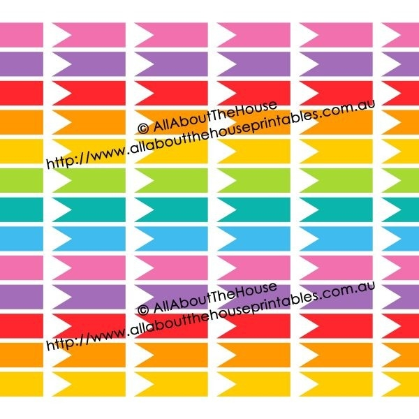 Printable Rainbow Calendar Stickers For Erin Condren Planner (Or intended for Calendar Stickers For College Students 28268