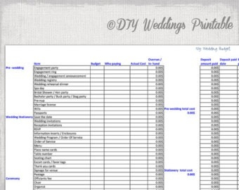 Printable Wedding Budget Spreadsheet | Onlyagame pertaining to Printable Wedding Budget Checklist 25913