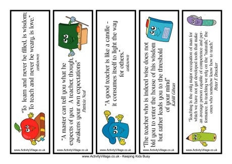 Quotes Bookmarks with regard to Bookmark Designs To Print For Teachers 26433