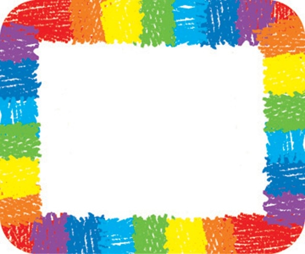 Rainbow - Kid Drawn Label/name Tag (Pack Of 40) (037220) Details in Blank Labels For Kids 29381