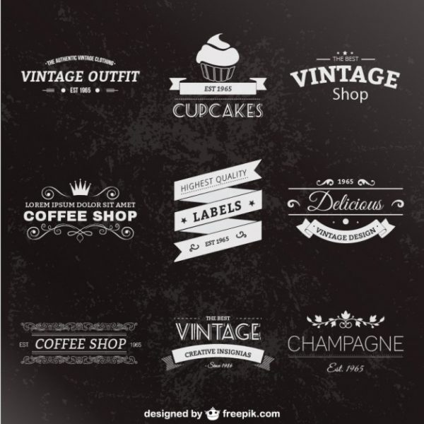 Retro Style Labels Pack Vector | Free Download pertaining to Vintage Label Template Psd