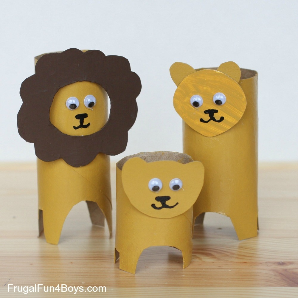 Roll Animals with regard to Tissue Paper Roll Crafts Animals 29098