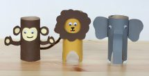 Tissue Paper Roll Crafts Animals