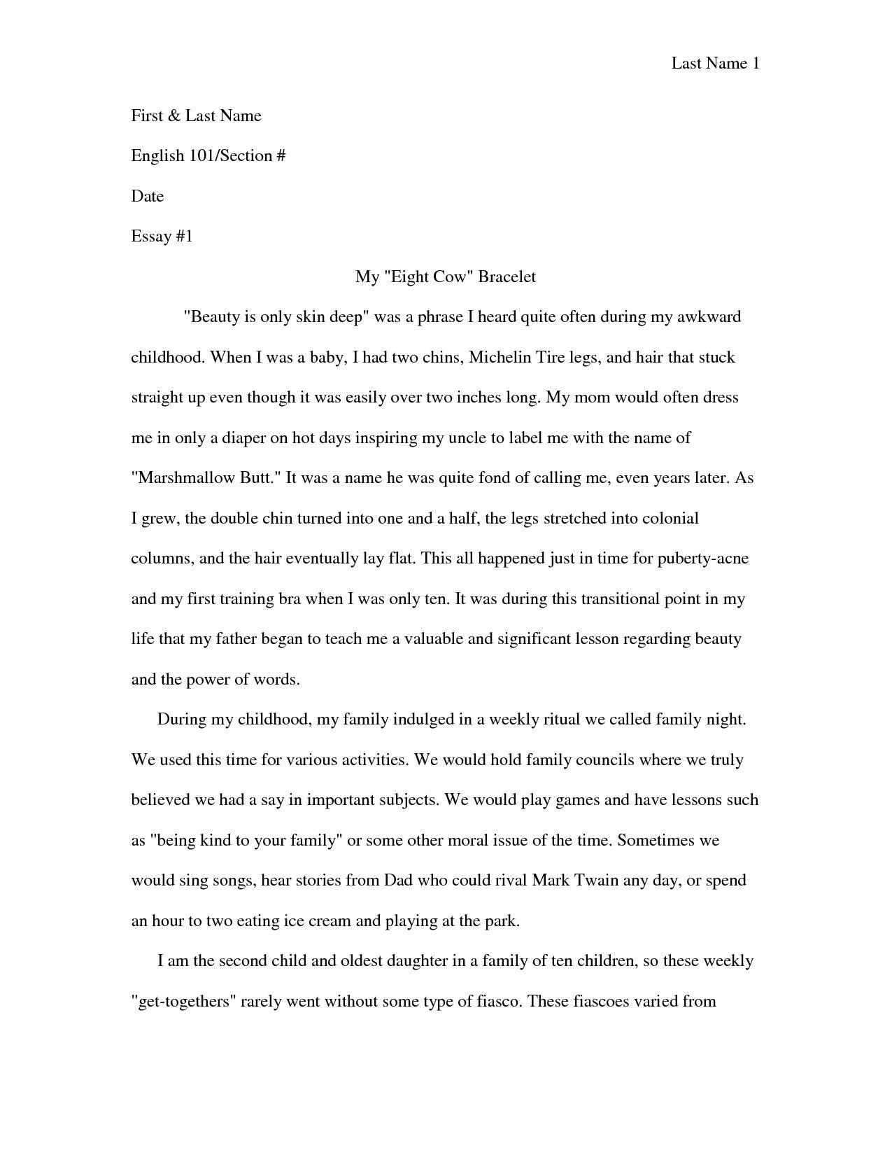 Sample College Narrative Essay - Vikingsna in Narrative Essay Example College Students 28801