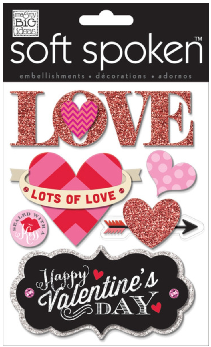 Scrapbook Page | Love Love Love You — Me & My Big Ideas in Love Stickers For Scrapbooking 25883