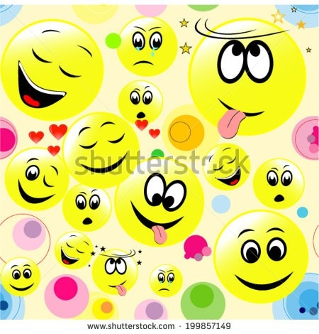 Seamless Background Colorful Smiley Faces Stock Vector 199857149 inside Colorful Smiley Faces Backgrounds 30574
