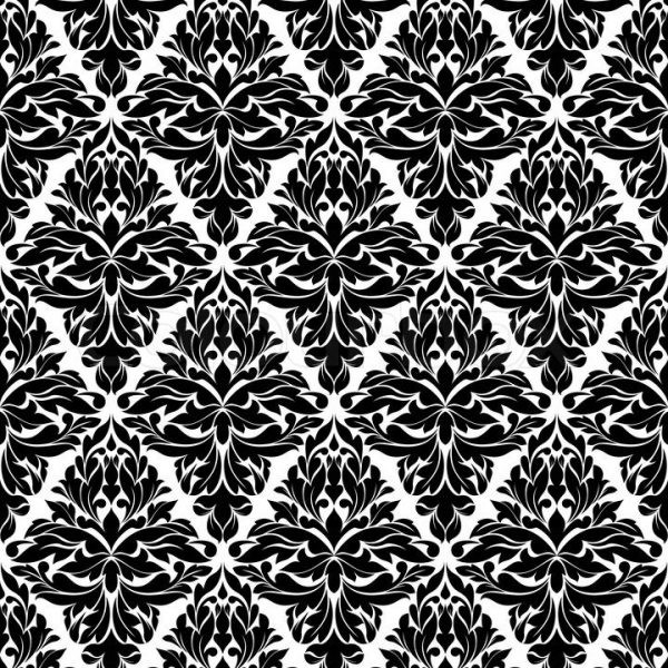 Seamless Background In Damask Style For Wrapping Paper Design With in Wrapping Paper Designs Black And White 29532