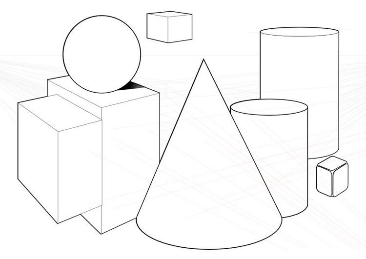 Seran Gallery Of Fine Arts: Shape And Form | **drawing Worksheets regarding Elements Of Art Shape Drawing 25282