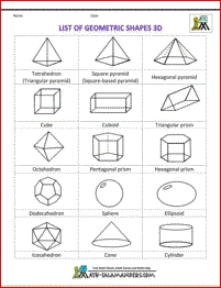 Shapes Clipart List Of Geometric Shapes 3D Bw | Apprendre Le intended for Geometric Shape 3D 24879