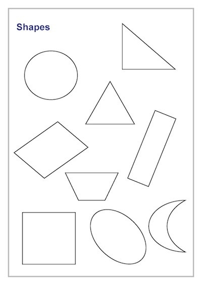 Shapes Lines Template | Teacher Timesavers Templates Resources regarding Basic Shapes Templates 25673
