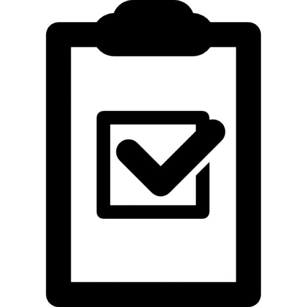 Shopping Checklist Icons | Free Download inside Checklist Icon Black And White 26163