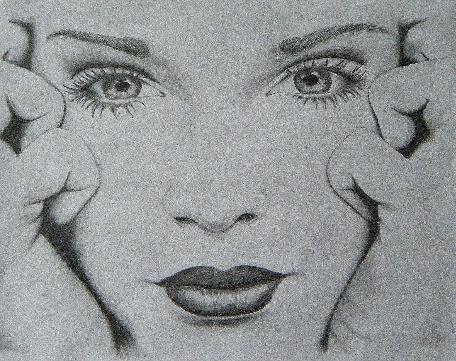 Simple Black And White Drawings Of Faces | World Of Example inside Simple Black And White Drawings Of Faces 30105