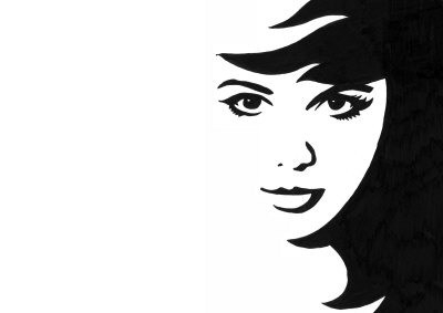 Simple Black And White Drawings Of Faces | World Of Example intended for Simple Black And White Drawings Of Faces 30105