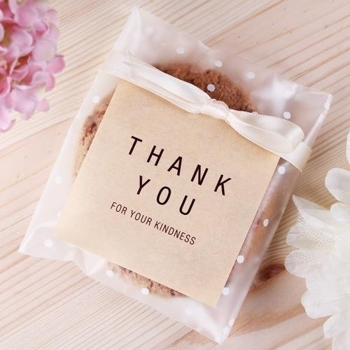 Simple Brown Paper Square Thank You Sticker Decorative Sealing with Thank You Stickers Square 28299