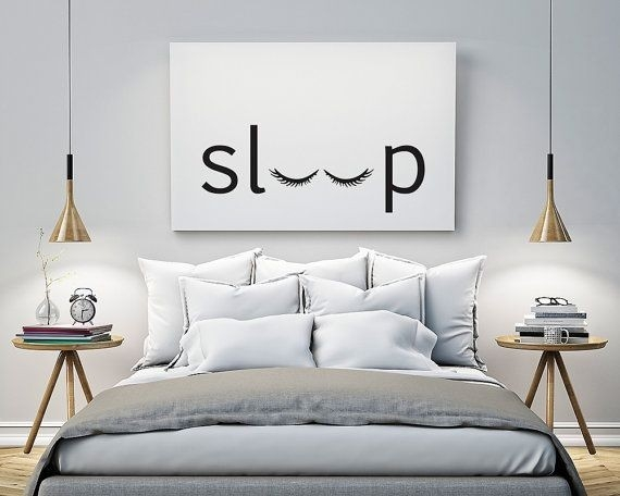 Sleep - Bedroom - Printable Poster - Typography Print Black inside Black And White Wall Art Ideas 27310