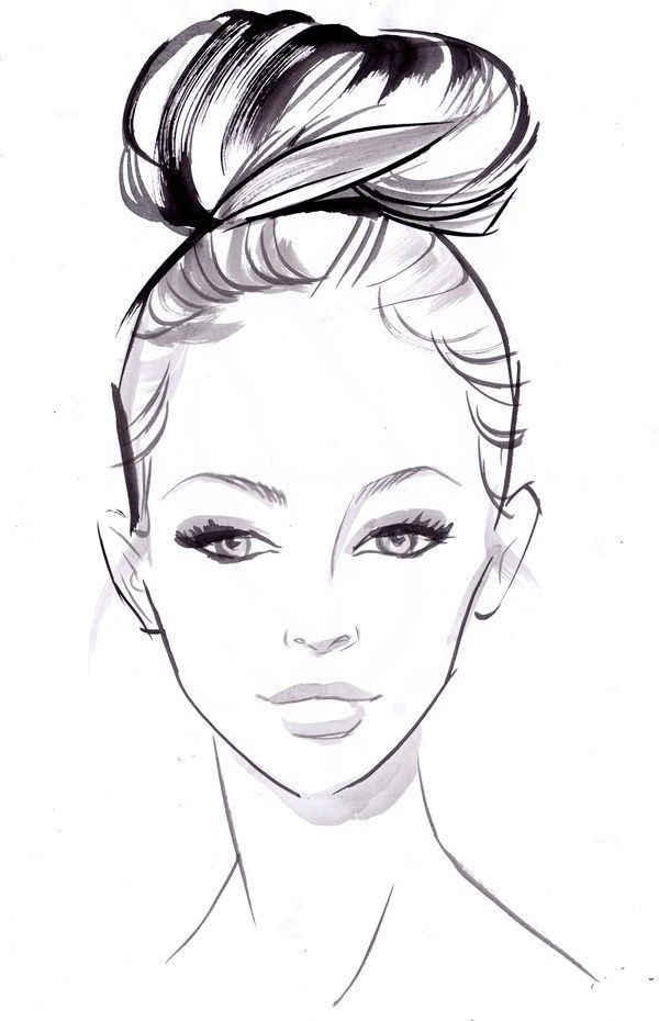 Sneak Peek: How-To Bridal Hairstyles | Bridal Hairstyle, Drawings for Simple Black And White Drawings Of Faces 30105