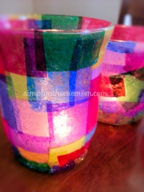 So Easy To Make.decoupage Candle Holders | Crafty Stuff intended for Tissue Paper Decoupage Crafts 27554