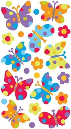 Sparkly Dot Butterflies Epoxy Stickers #10386 :: Flower Stickers intended for Butterfly Stickers For Scrapbooking 26493