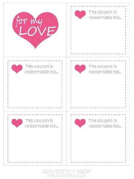 Stay-At-Home Artist: Made With Love: Coupon Book | For My Sweet for Blank Love Coupons Template 30358
