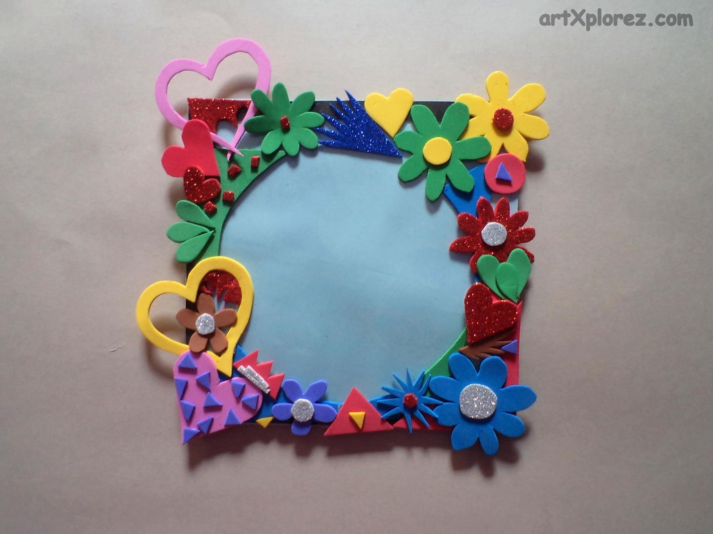 Step Arrange Paste Them According Your Interest Keep - Home Art with Handmade Crafts Using Waste Materials 26885