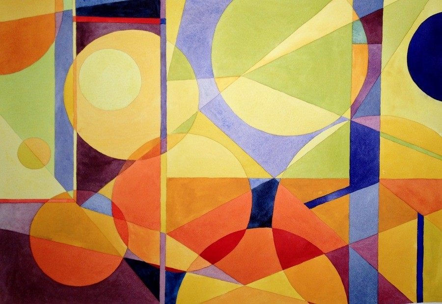 Stranger In A Strange Land | Chris Carter, Geometric Painting And throughout Famous Geometric Shape Art 24808