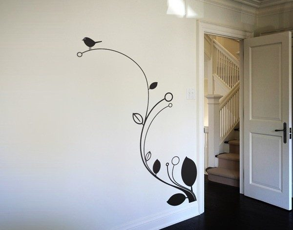 Stylish Simple Wall Paintings Designs On Decor With Home Interior