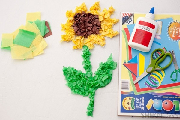 Sunflower Crafts For Kids for Easy Tissue Paper Crafts For Kids 27490
