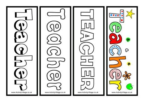Teacher Bookmarks Printable pertaining to Bookmark Designs To Print For Teachers 26433