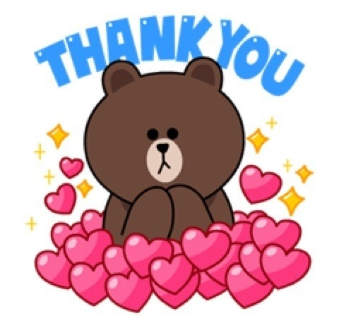 Thank You Line Stickers | World Of Example regarding Thank You Line Stickers