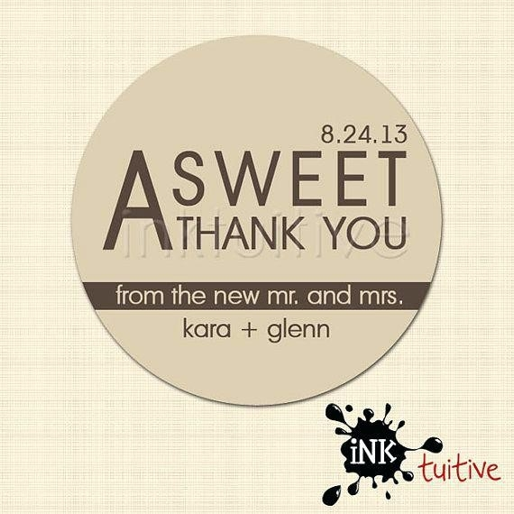 Thank You Stickers For Wedding Favors Wedding Favor Stickers Sweet for Thank You Stickers For Favors 30449