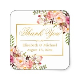 Thank You Stickers | Zazzle Ca with regard to Thank You Stickers Square 28299