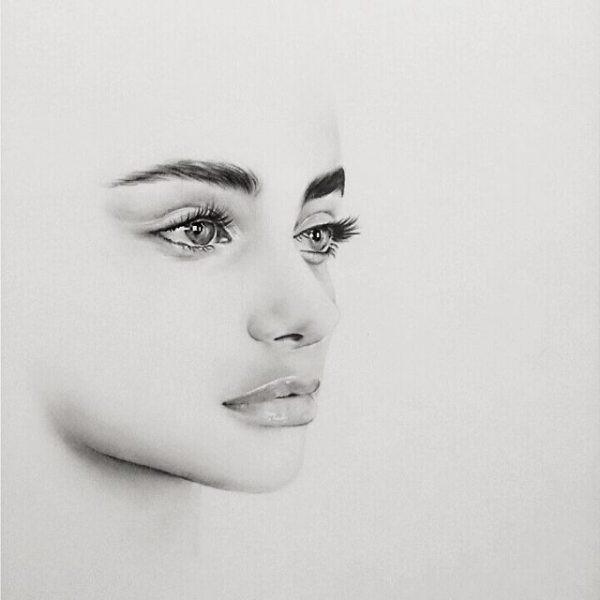 The 25+ Best Pencil Drawings Ideas On Pinterest | Pencil Drawings in Simple Black And White Drawings Of Faces 30105