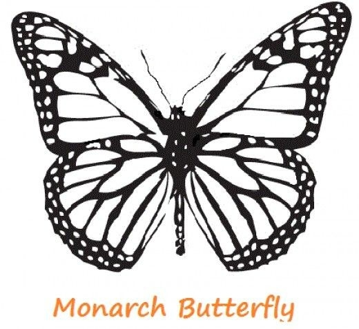 The First Stencil Shaped Like A Monarch Butterfly. Description within Monarch Butterfly Template 29350