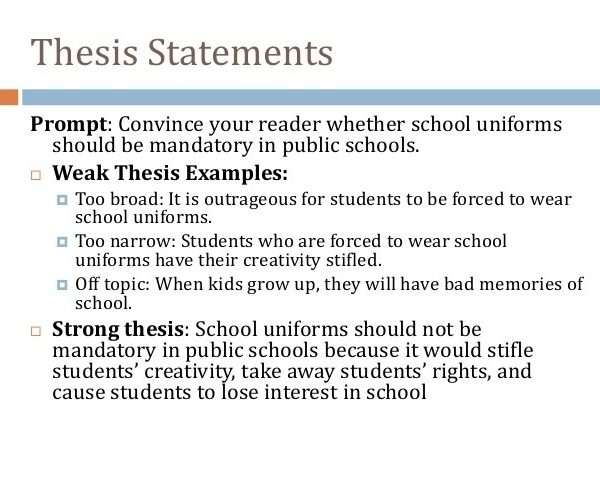 Thesis Essay - Wolf Group with Thesis Statements Examples