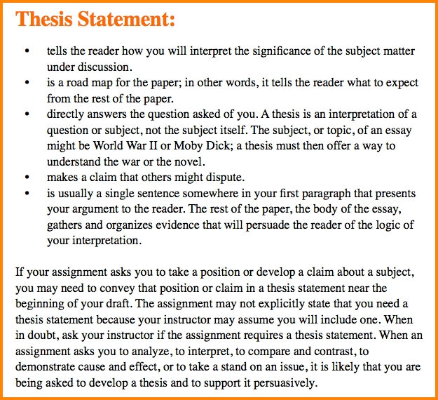 Thesis Statement Essays Essay Writing Arguable Thesis Statements within Thesis Statements Examples For Essays 28841