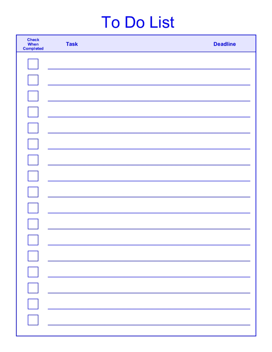 Things-To-Do-List-Template-Pdf intended for Things To Do List Printable 25986
