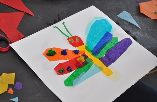Tissue Paper And Liquid Starch Collage | Carle Museum for Tissue Paper Art For Kids 27480